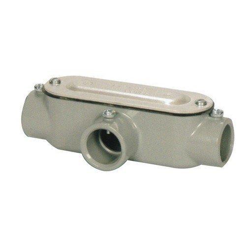 Morris 14173 EMT Set Screw Conduit Body, Aluminum, Type T, Cover and Gasket, 1-1/4