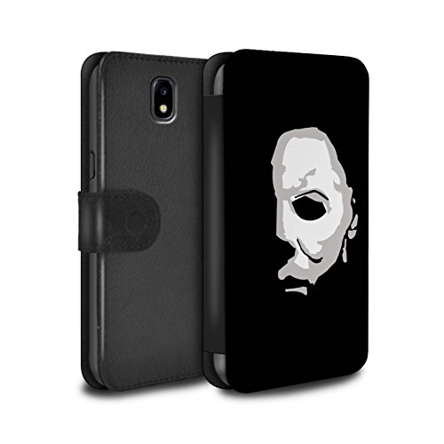 Stuff4® PU-Leder Hülle/Case/Tasche/Cover für Samsung Galaxy J7 2017/J730 / Michael Myers Inspiriert Kunst Muster/Grusel Filmkunst Kollektion