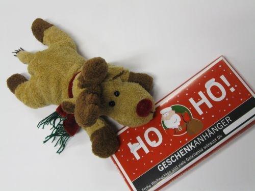 nkset Plüsch Elch mit Schal, liegend, Tafel Weihnachtsschokolade 100 gr. ()