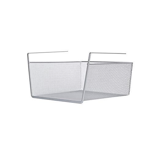 LaCyan cestas colgantes metálicas bajo estantes organizador