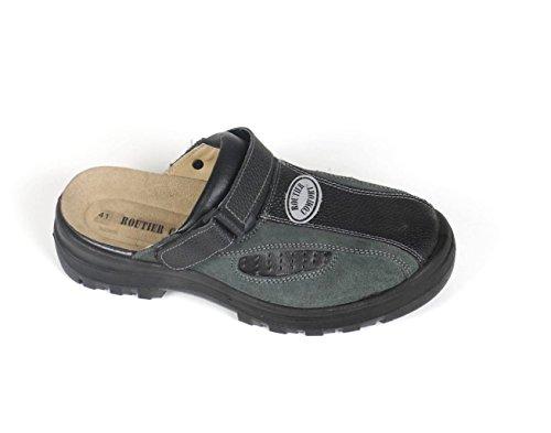 Sicherheits-Sandale mit Stahlkappe Routier Comfort, Schwarz/Grün, 44 EU