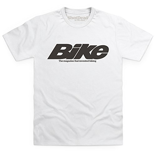 Official Bike Magazine Noughties Logo T-Shirt, Herren Wei