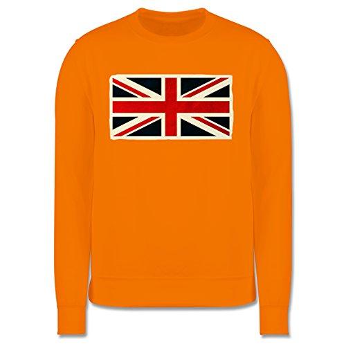 Länder - Flagge Großbritannien - Herren Premium Pullover Orange