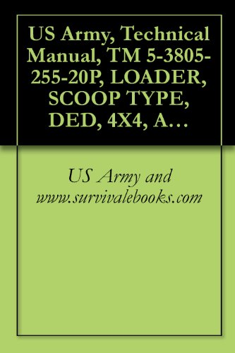 US Army, Technical Manual, TM 5-3805-255-20P, LOADER, SCOOP TYPE, DED, 4X4, ARTICULATED FRAME STEER; 4 1/4 TO 5 CU YD (CCE), ARMY MODEL H100C RB TYPE 1 ... BUCKET (3805-01-052-9043) (English Edition)
