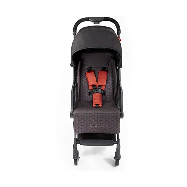 Diono Traverze Compact Luggage-Style Stroller, Charcoal Copper Hive Diono Luggage Style Stroller: Suitable from birth up to 20 kg the Diono Traverse is the original luggage style stroller to make family travel easy Ultra Lightweight: Only 5.6 kg to help you glide through the world, with neat pull along handle just like your luggage Super Compact Fold = Airplane Friendly: True one hand fold makes traverse super compact to fit most overhead bins 2