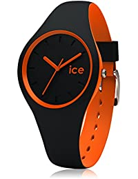 ICE-Watch - Duo - Black orange - Small 1557 - Montre Quartz - Affichage Analogique - Bracelet Silicone Multicolore et Cadran Noir - Enfant