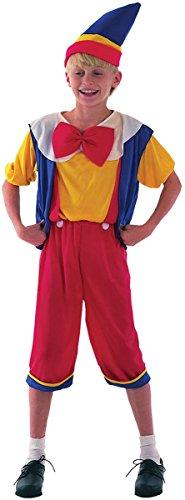 Pinocchio - Bambini Costume - Small - 110 a 122 centimetri