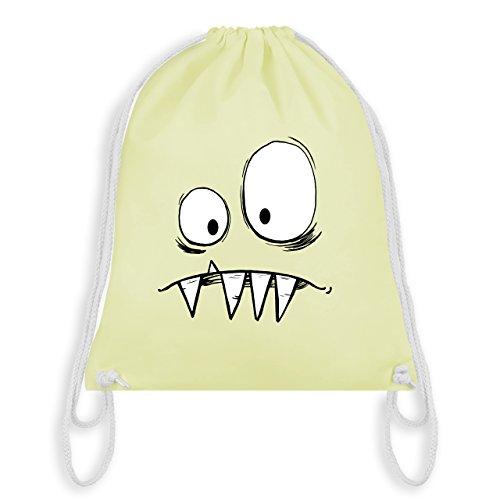 Karneval & Fasching Kinder - Monster Gesicht Kostüm 2 - Unisize - Pastell Gelb - WM110 - Turnbeutel & Gym Bag