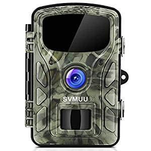 """SVMUU Wildkamera 1080P 14 MP Jagdkamera Beutekameras 2.4"""" LCD mit 940nm IR LED's Sensoren mit Bewegungsaktivierung"""