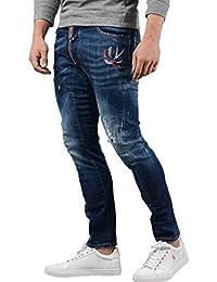 12232ff94fa1c Dsquared2 Jeans - Hommes s74lb0356 rangé Motard Jean en Jean Bleu