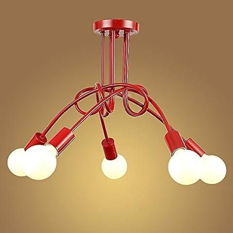 LJSYYR E27 minimalista lampada da soffitto lampadario lampada (550*400mm), Sala Ristorante Red