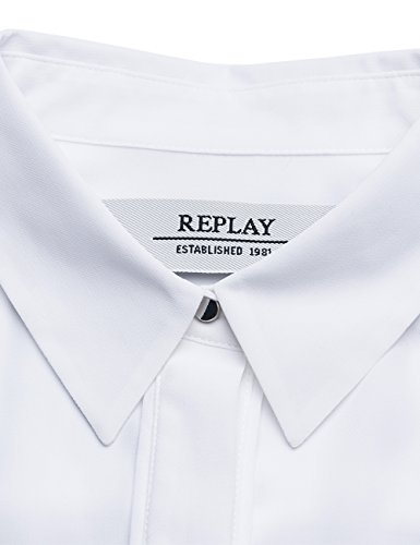 Replay Damen Bluse Weiß (Optical White 1)