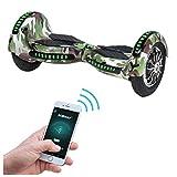 Robway W3 Hoverboard - Das Original - Samsung Marken Akku - Self Balance - 21 Farben - Bluetooth - 2 x 400 Watt Motoren – App – LED (Camouflage)