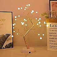 AMERTEER USB Pearl Decorative Led Shimmer Tree Desk Lamp Touch Switch Led Light for Home Bedroom Indoor Weddin