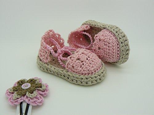 Sandali tipo espadrille modello Alessia per neonata