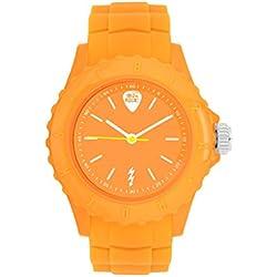 Ibiza Rocks Irock Unisex Quartz Watch with Orange Dial Analogue Display and Orange Plastic Strap 0.93.0502