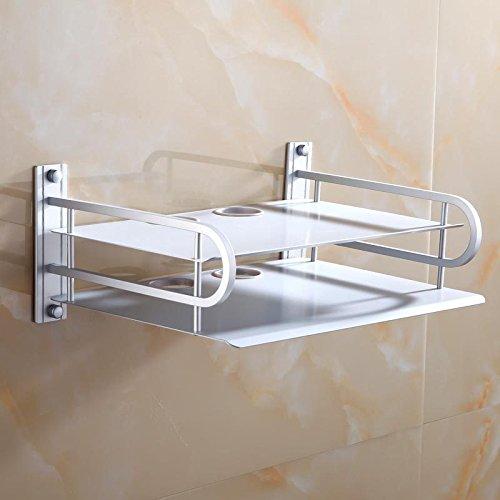 CLG-FLY doppia TV digitale set-top box spazio su rack router in alluminio staffa di supporto montato a parete rack,doppio set-top box
