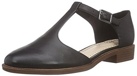 Clarks Taylor Palm, Women's Wedge Heels Sandals, Black (Black Leather),7 UK (41 EU)