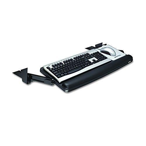 Underdesk Adjustable Keyboard Drawer, 28-7/8 x 16-7/8, Black/Charcoal Gray