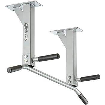 Capital Sports Tyro S6 barra para flexiones en pared (350 kg de peso máximo, base acero resistente, asas de plástico, zona de agarre antideslizante, juego de tacos de fijación)