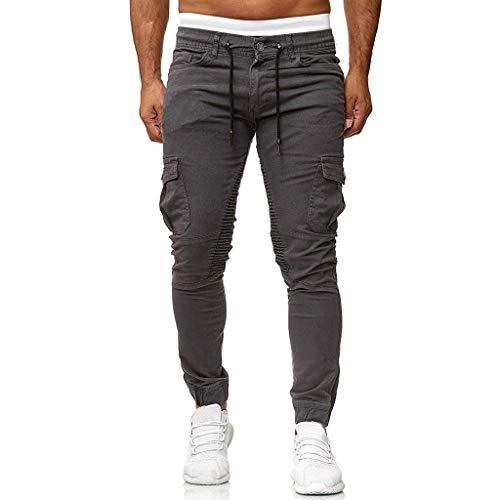 MINIKIMI Herren Jogging Hosen Jogginghose Cargo Chino Jeans Stretch Jogger Sporthose Slim-Fit Sweathose Cargohose Fitness Trainingshose M-3Xl -