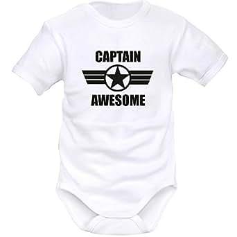 ff29861d9faf2 SIMEDIO Body bébé humour   CAPTAIN awesome  Amazon.fr  Vêtements et ...