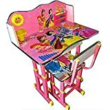 Furniture First BARIIE Princess Pink Melamine Graphics and Glossy Lamination Kids Study Table & Chair Set for Kids Age Between 3-11 Years, Originally Imported by FURNITURE FIRST
