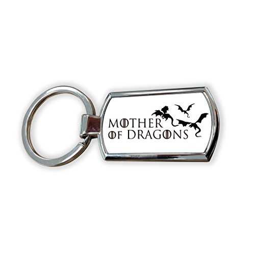 Game Of Thrones Fantasy GOT Series TV Usa Show Keyring Metal charm pendant key ring keychain bag tag fob - Daenerys House Targaryen Queen dany Stormborn mother dragons