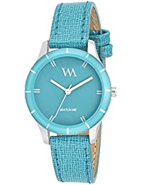 Watch Me Analogue Quartz Round Blue Dial Watch For Girls And Womens Wmal-212Fc