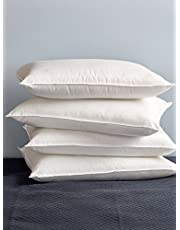 AVI 4 Piece Microfibre Fluffy Pillows for Giving Support to Your Neck, White (20 * 30in)