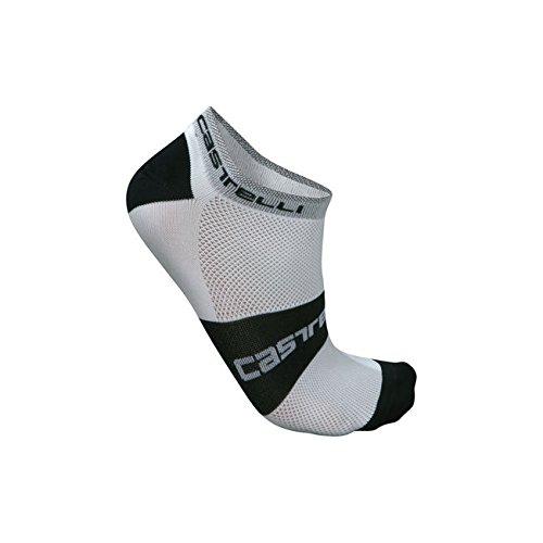 Socken CASTELLI LOWBOY Weiß/Schwarz Größe S/M