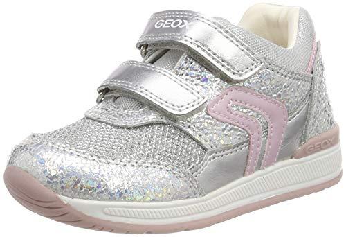 Geox Baby Mädchen B Rishon Girl a Sneaker, Silber (Iridescent C0776), 24 EU
