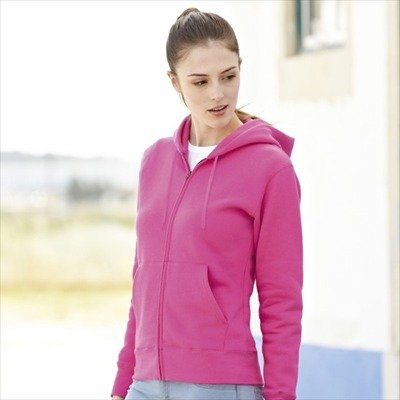 Fruit of the Loom - Lady-Fit Hooded Sweat Jacket - Modell 2013 XS,Azure Blue