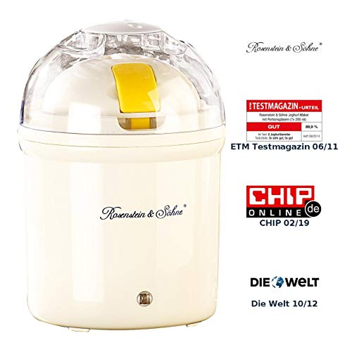 Rosenstein & Söhne Joghurt-Maker für 1 Liter frischen Joghurt thumbnail