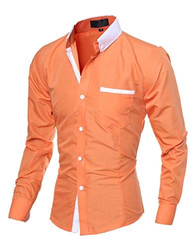 Glestore camia da uomo tina unita business casual Arancione