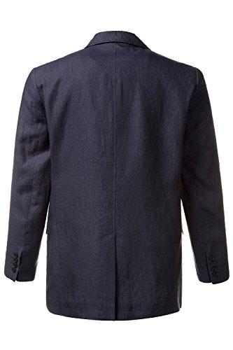 JP 1880 Herren bis Größe 66 | Leinen-Sakko | Blazer in dunkelblau | Knitterfrei, 2 Knöpfe & 3 Taschen | Reverskragen | leichtes Futter | Navy