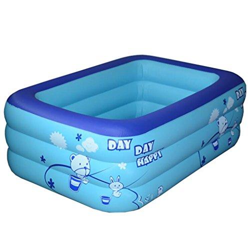 QRFDIAN Faltende Wanne-tragbare Wanne Jacuzzi-Kinderwanne Coverless rechteckige aufblasbare Badewanne Portable faltende Wanne-elektrische Pumpe grünes PVC-Blau 120 * 78 * 87cm Faltende ()