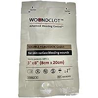 """Gasa para Traumatismos WoundClot (Apósito Hemostático) - Control Avanzado de las Hemorragias (3.1"""" X 8"""" (8cm X 20cm))"""