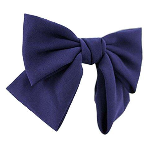 [Marine] Clip Belle en mousseline de soie Bow Barrette Ponytail cheveux