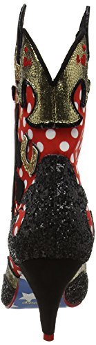 Irregular Choice Damen Hot Diggety Dog Cowboy Stiefel Red (Red/White/Black)
