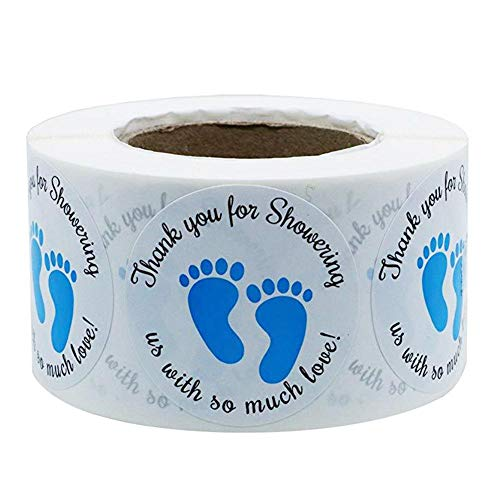 chifans Babyparty-Bevorzugungs-Aufkleber, Danke für das Duschen Uns mit soviel Liebe Aufkleber, runde Aufkleber für Babyparty danken Ihnen Karten (Karten Baby-dusche Ihnen Danken)