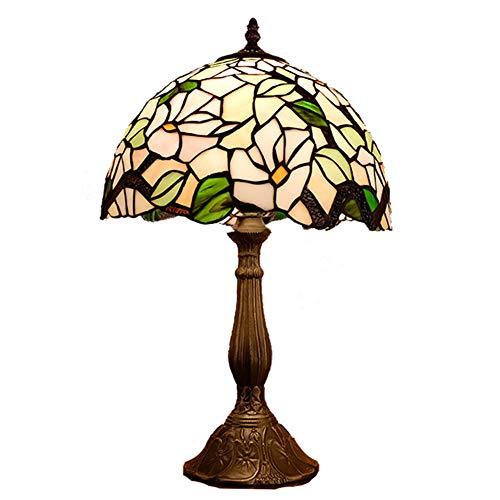 12-Zoll-Tiffany-Art-Tabellen-Lampe, Retro Buntglas Shade Legierung Unterseite für Wohnzimmer Schlafzimmer Schreibtisch Nachttischleuchten DDI E27 -