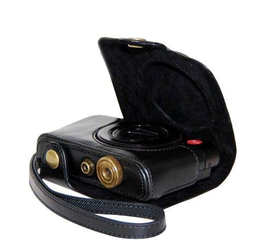 MegaGear cámara de piel para Panasonic LF1lente cámara digital (Negro)