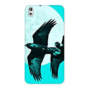 Raven Cyan Back Case Cover for HTC Desire 816s