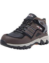 Botas de Seguridad Hombres, LM-316 Zapatos de Trabajo con Punta de Acero Reflectivo Transpirable Anti-Piercing Calzados de Trabajo