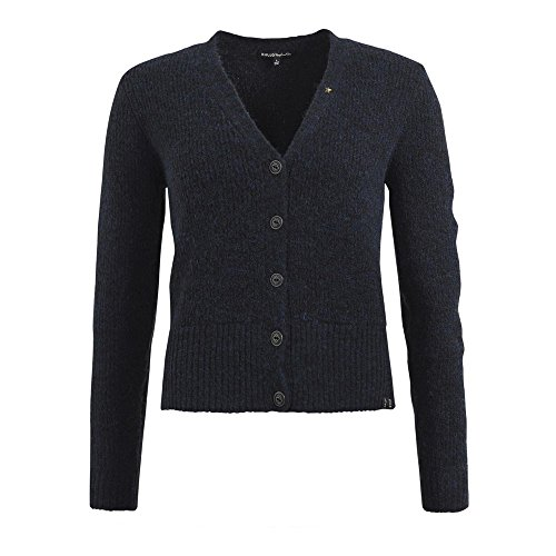 khujo Damen Strickjacke MALAYA in Melange-Optik midnight blue melange