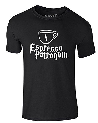 Brand88 - Espresso Patronum, Erwachsene Gedrucktes T-Shirt Schwarz/Weiß