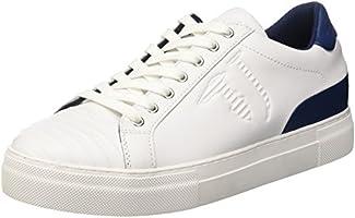 Trussardi Jeans 77S60753, Sneaker a collo basso Uomo, Nero (White/Black), 45 EU