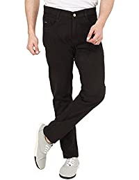 Nimegh Chocolate Colored Cotton Casual Slim Fit Solid Trouser For Men's