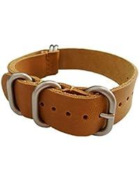 18mm oscuro decente exquisita artesanía reloj de cuero de la vendimia de reemplazo banda marrón para hombres del cuero genuino